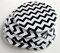 Hey, I found this really awesome Etsy listing at https://www.etsy.com/listing/101389266/black-white-home-decor-chevron-coasters