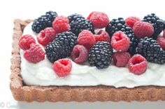 Chocolate Berry Tart (Paleo, Grain-Free) - Deliciously Organic