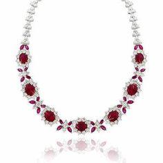 jewelleri, red, diamonds, simul rubi, sterling silver, silver simul, jewelri, rubi necklac, simul diamond