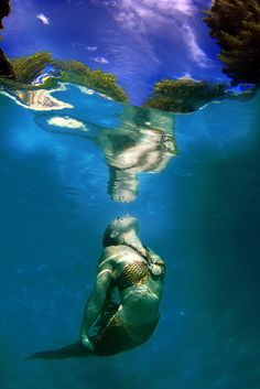 Twig the Fairy Mermaid Underwater Reflections by gbrummett