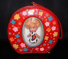 1960's Round Purse with Doll