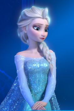 Elsa <3 i can see the details of her dress!!! <3