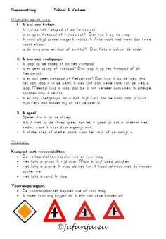 Methode Wegwijs: Samenvatting H1: School en Verkeer (verkeersborden/voorrang)