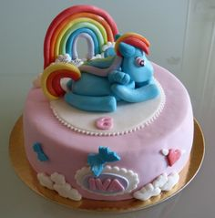 My little pony rainbow dash cake!