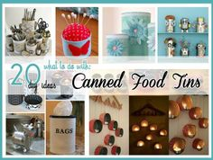 What to do with: Canned Food Tins !