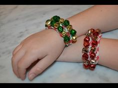 ▶ How to make a Rainbow Loom Christmas Jingle Mania Bracelet design - YouTube