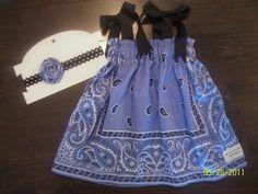 Infant Size Newborn-12 Months (OSFM) Bandana Dress Sewing Pattern Tutorial for Beginners. $7.99, via Etsy.