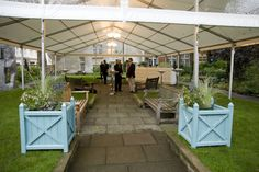 Full cover marquee in St James' Garden, Summer Venue Hire through 195 Piccadilly, London