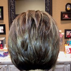 "The Back of a Stacked Layered Bob...not sure about you but I always have a hard time finding a pic of the ""back"" of the head for my stylist."