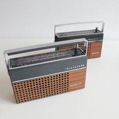 Set of 2 Vintage 70's portable transistors radio's: Telefunken Partner NT and Star Partner