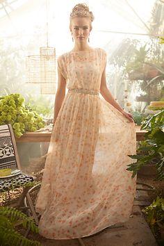 summer dresses, maxi dresses, rehearsal dinners, bridesmaid dresses, anthro, peach blossom, blossom maxi, summer days, hot summer