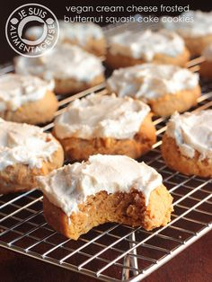 Vegan Cream Cheese Frosted butternut squash cake cookies