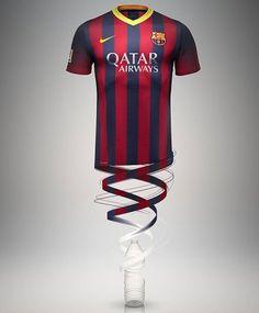 Nova camiseta do Barcelona 2013/14 #futbol #soccer #nike #barcelona