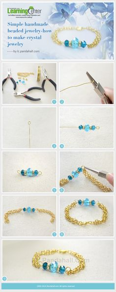 A Simple Way on How to Make a Gold Chain Link Charm Bracelet with Czech Beads