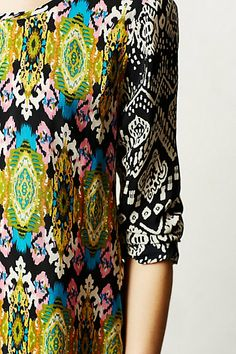 Laccadive silk blouse // Antropologie
