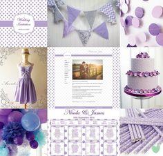 Polka Dots Wedding Styling Mood Board from The Wedding Community