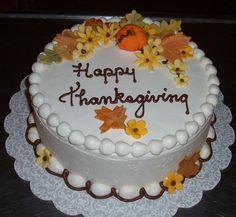 thanksgiving cakes | Happy Thanksgiving Cake