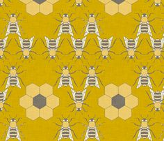 buzzing fabric by holli_zollinger on Spoonflower - custom fabric