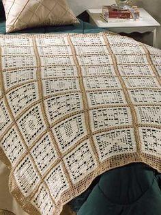Miscellaneous Crochet - Filet Crochet Patterns - Alphabetically Crochet Afghan Pattern