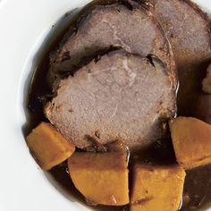 Pot Roast Recipe with Apples, Sweet Potatoes and Prunes - Food and Recipes - Mother Earth Living