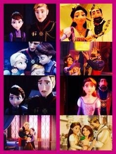 Tangled / Frozen Crossover - The Queen of Corona and the Queen of Arendelle are sisters.
