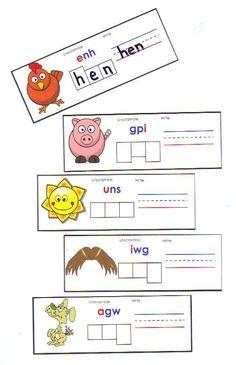 CVC word cards.
