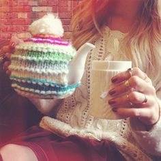 Because your teapot should be cozy too. #teapot #knit #cozy #getgifted #uoaroundyou