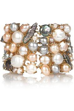 ALEXANDER MCQUEEN ♥  Gold-plated freshwater pearl bracelet