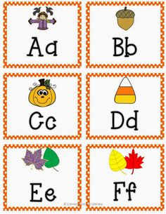 Freebie ABC Letter Cards for fall!!