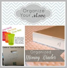 Tips for organizing your move!