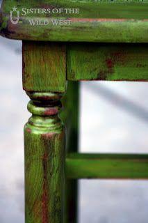 Distressed & Glazed Cane Bench Redo