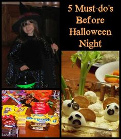 5 Must-do's Before Halloween Night -- a quick checklist to get you ready for a fun-filled night with the kids!