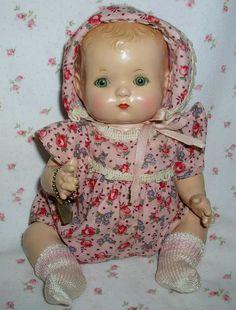 Effanbee - PATSY BABYkin - Early 1930s-- Blond Molded Hair MINT -- Twin GIRL
