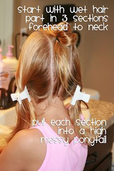 Lots of little girl hair dos