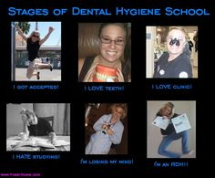 The many emotions of Dental Hygiene School ;) Here we come!