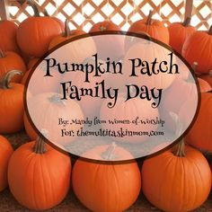 Taking your family to the pumpkin patch for the day is a wonderful fall activity! Check out the recipe for pumpkin seeds too at The Multi Taskin Mom!