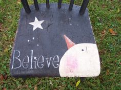 Believe Snowman Chair $50.