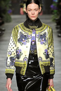 Givenchy Fall 2011 Silk bomber jacket