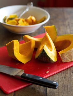 How to Cut and Peel a Kabocha Squash - Pinch of Yum