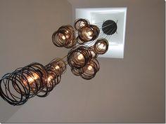 lights, spirals, ridg studio, light fixtures, studio work, spiral nest, nests, nest light, intrigu light