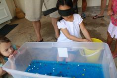 Having Fun at Home: Waterbeads and Marbles Fishing Game
