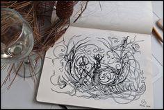 Many more magnificent creations: Sketchbook 2011 (vol3) by Irina Vinnik, via Behance