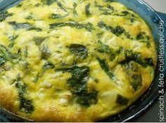 Spinach & Feta Crustless Quiche  #Healthilinguist