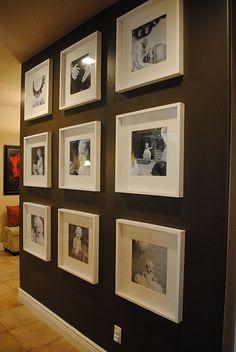 square gallery wall by elizabeth