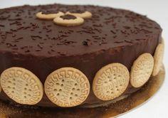 Torta fria de Galletas María con chocolate