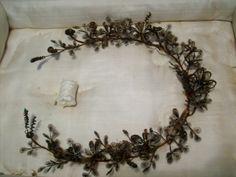 hair wreath, wreath victorian mourning