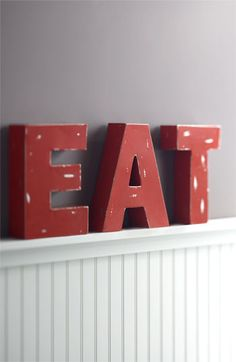 The only decoration a kitchen needs: EAT Decorative Metal Letters