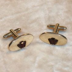1960s Cuff Links Red Lucite Crown Vintage Mad Men by SwaggerMan, $14.50