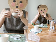 #DIY - Cross-stitching mask - #crossstitching