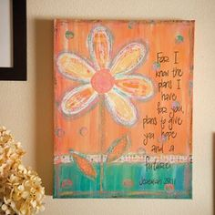 Harly's room:  For I Know the Plans I Have for You - Gallery Wrapped Canvas Print